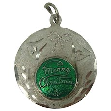 Sterling Merry Christmas Anne Charm
