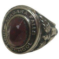 Sterling Class Ring Charm for Niagara Falls High School`