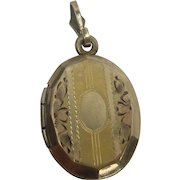 Vintage Art Deco Gold Filled Charm Locket