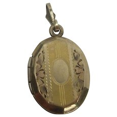 Vintage Art Deco Gold Filled Charm Locket