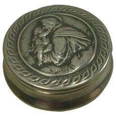 c.1940 Italian Christian .800 Silver Pill Box
