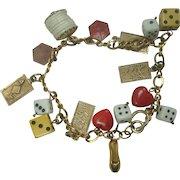 Good Luck Gambling Charm Bracelet