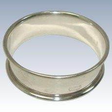 Marson & Jones 1929 Birmingham Sterling Napkin Ring