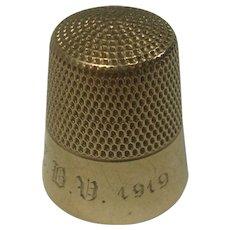 Early 1900s 10K Gold Thimble Ketcham & MacDougall Sz 10