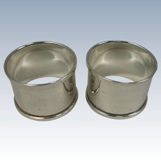 1934 Henry Griffith & Sons Birmingham Sterling Napkin Rings