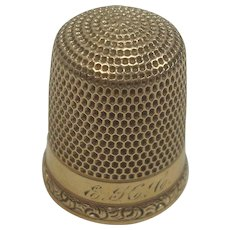 Simons Bros. 14K Gold Thimble 10
