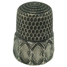 Simons Bros. Sterling Thimble Size 4