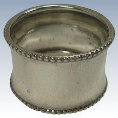 Gorham Beaded Border Sterling Napkin Ring