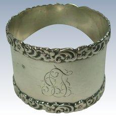 Sterling Acanthus Border Napkin Ring