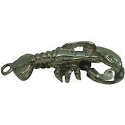 Mixed Metal Moveable Claws Lobster Charm