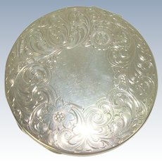 R Blackinton Floral and Acanthus Mirror Compact