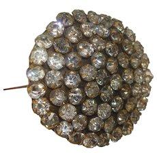 """Round Rhinestone Hat Pin 9 1/2"""""""