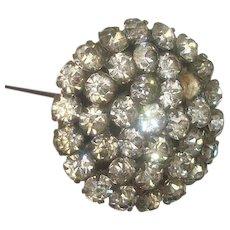 "Vintage Rhinestone Hat Pin 9 1/4"""