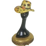 Limoges Mannequin Hand Painted Pill Box