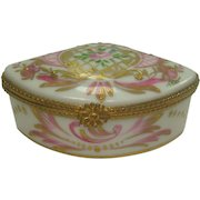 Limoges Ornate Rose and Leaf Pill Box