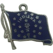 Sterling Indiana State Flag Charm
