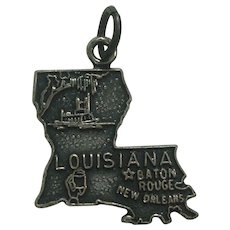 Vintage Louisiana State Sterling Charm