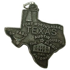 Vintage Texas State Sterling Charm