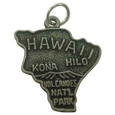 Vintage Hawaii State Sterling Charm