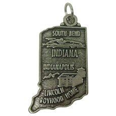 Vintage Large Indiana State Charm