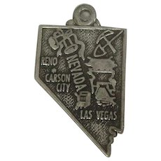 Vintage Nevada State Sterling Charm