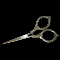 Stahl Sterling Handled Embroidery Scissors