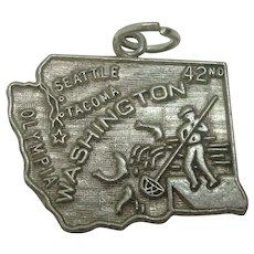 Vintage Washington State Sterling Charm