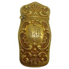Gold Plated Match Safe, Courvoisier-Wilcox Mfg. Co., Essex, c. 1900