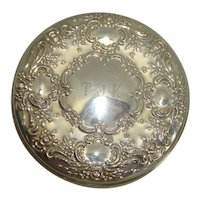 Towle Sterling Floral Leaf and Acanthus Mirror