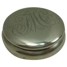 Frank M Whiting Sterling Rouge Pot or Pill Box
