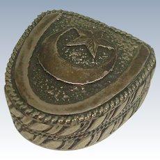 900 Silver Star and Crescent Pill Box
