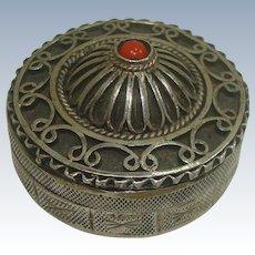 Persian .900 Silver Filagree Pill Box