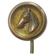 Vintage Horse Head Brass Stick Pin