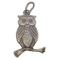 Sterling Owl Charm