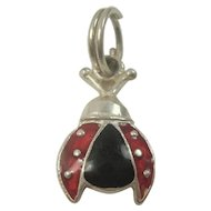 Sterling Lady Bug Charm