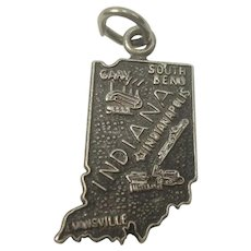 Indiana State Sterling Charm
