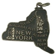 LARGE New York State Charm Signed JMF