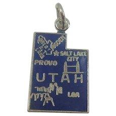 Utah Enameled Sterling State Charm