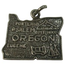 Oregon Sterling State Charm