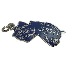 New Jersey Enameled Sterling State Charm