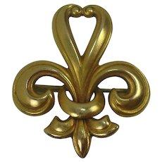 Vintage Fleur di Lis Lapel Watch Pin or Brooch