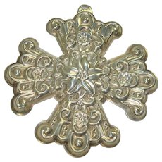 Reed and Barton 1974 Sterling Cross Ornament