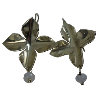 Mexican Sterling Four Petal Style Earrings