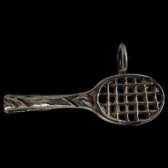 Vintage Sterling Tennis Racket Charm