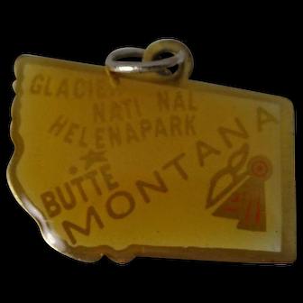 Montana Enameled State Mixed Metal Charm