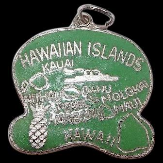 Hawaiian Islands Mixed Metal Charm