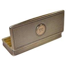 1828 Charles Rawlings London Boars Head Silver Snuff Box