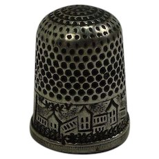 Sterling Scenic Thimble Size 6
