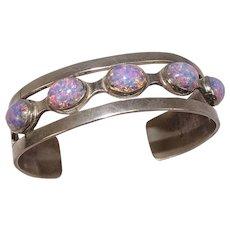 Opal Mixed Metal Cuff Bracelet Taxco