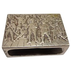 Dutch 830 Silver Scenic Match Holder